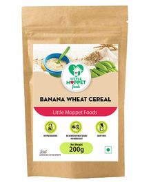 Little Moppet Baby Foods Banana Wheat Cereal - 200 gm