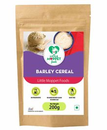 Little Moppet Baby Foods Organic Barley Cereal - 200 gm