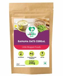Little Moppet Baby Foods Banana Oats Cereal - 200 gm