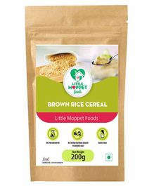 Little Moppet Baby Foods Organic Brown Rice Cereal - 200 gm