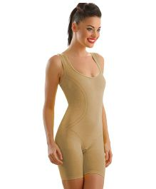 Clovia Flexible Body Shaping Suit - Beige