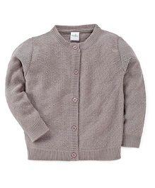 Babyhug Full Sleeves Cardigan - Smoke Grey