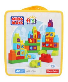 Mega bloks ABC Rainbow Bag Multicolor - 40 Pieces