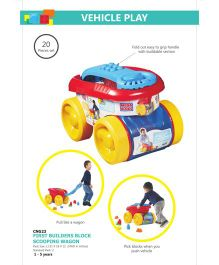 Mega Bloks Block Scooping Wagon Multicolor - 20 Blocks