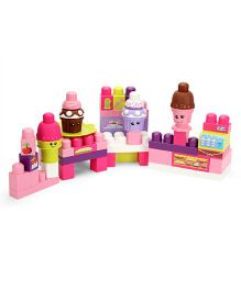 Mega Bloks Build A Bakery Block Set With Bag Multicolor - 70 Pieces