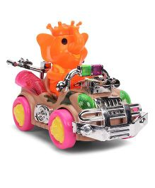 Smiles Creation Cartoon Car - Orange And Pink
