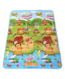 Smiles Creation Play Mat Animal Print - Green And Blue