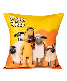 Shaun The Sheep Cushion Cover - Yellow & Orange