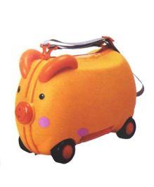 Polly's Pet Piggy Ride On Suitcase Orange - 7637