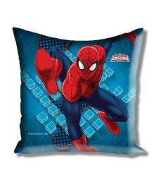 Marvel Athom Trendz Spider Man Cushion Cover With Filler- Blue ATZ-10-3-D11-FL