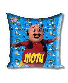Motu Patlu Athom Trendz Cushion Cover With Filler - Blue MTP-10-3-M01-FL
