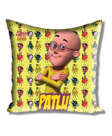 Motu Patlu Athom Trendz Cushion Cover With Filler - Yellow MTP-10-3-M02-FL