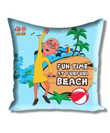 Motu Patlu Athom Trendz Cushion Cover With Filler - Blue MTP-10-3-M06-FL