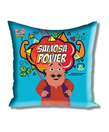 Motu Patlu Athom Trendz Cushion Cover With Filler - Blue MTP-10-3-M07-FL