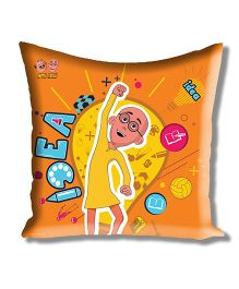 Motu Patlu Athom Trendz Cushion Cover With Filler - Orange MTP-10-3-M08-FL
