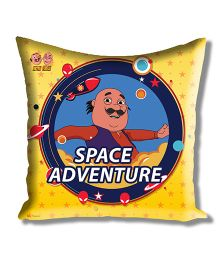 Motu Patlu Athom Trendz Cushion Cover With Filler - Yellow MTP-10-3-M09-FL