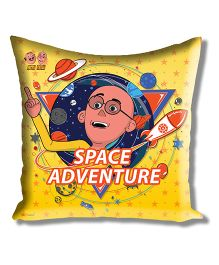 Motu Patlu Athom Trendz Cushion Cover With Filler - Yellow MTP-10-3-M10-FL