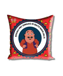 Motu Patlu Athom Trendz Cushion Cover With Filler - Red MTP-10-3-M11-FL