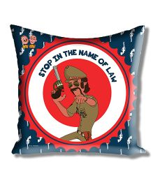 Motu Patlu Athom Trendz Cushion Cover With Filler - Blue MTP-10-3-M12-FL