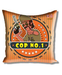 Motu Patlu Athom Trendz Cushion Cover With Filler - Orange MTP-10-3-M13-FL
