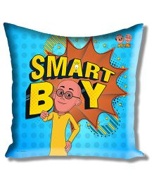 Motu Patlu Athom Trendz Cushion Cover With Filler - Blue MTP-10-3-M14-FL