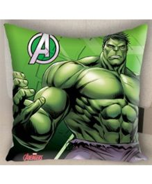 Marvel Athom Trendz Avengers Hulk Cushion Cover MAR-10-3-D55 - Green