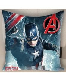 Marvel Athom Trendz Avengers Captain America Cushion Cover MAR-10-3-D58 - Blue
