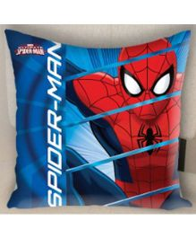 Marvel Athom Trendz Spider Man Cushion Cover - Blue And Red MAR-10-3-D63