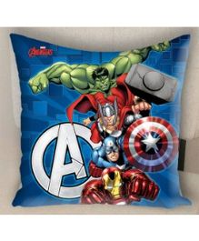 Marvel Athom Trendz Avengers Filled Cushion With Cushion Cover - Blue MAR-10-3-D51-FL