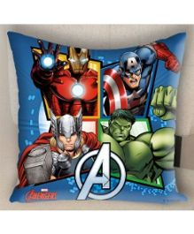 Marvel Athom Trendz Avengers Filled Cushion With Cushion Cover - Blue MAR-10-3-D52-FL