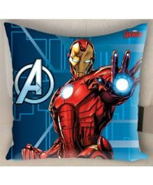 Marvel Athom Trendz Avengers Iron Man Filled Cushion With Cushion Cover - Blue MAR-10-3-D56-FL