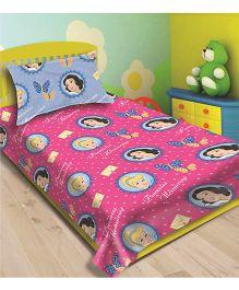 Disney Athom Trendz Princess Single Bed Sheet With Pillow Cover Pink - DIS 01 122 S