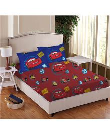 Disney Athom Trendz Cars Double Bed Sheet Set Red - DIS 01 124 D