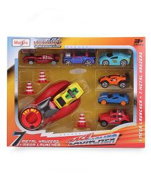 Maisto 7 Car Race Launcher Set - Multi Color