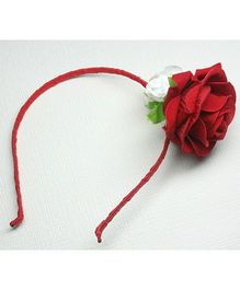 Asthetika Floral Hairband - Red