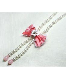 Asthetika Bow Necklace - Pink