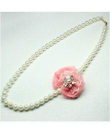 Asthetika Net Bow Necklace - Pink