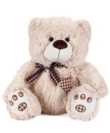 Starwalk Plush Teddy Bear With Bow Beige - 35 cm