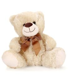 Starwalk Plush Teddy Bear With Bow Cream - 30 cm