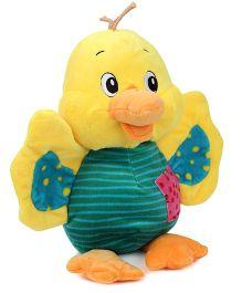 Starwalk Standing Plush Duck Yellow And Green - 10 Inches