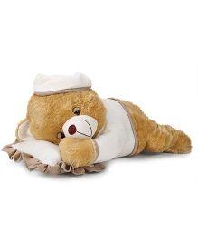 Starwalk Plush Sleeping Teddy Bear Beige - 18 Inches