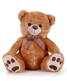 Starwalk Teddy Bear Plush Brown Color With Brown Bow - 17 Inches