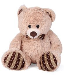 Starwalk Teddy Bear Plush Beige With Dotted Bow - 36 cm