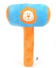 Starwalk Plush Lion Face Musical Hammer Blue - 9 Inches