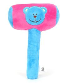 Starwalk Plush Bear Face Musical Hammer Pink - 9 Inches