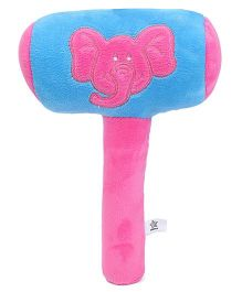 Starwalk Plush Elephant Face Musical Hammer Blue - 9 Inches