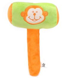 Starwalk Plush Monkey Face Musical Hammer Green - 9 Inches
