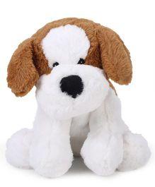 Starwalk Plush Dog Soft Toy Brown And White - 9 Inches