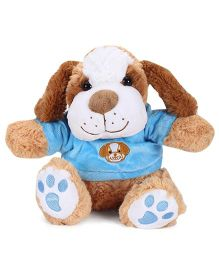 Starwalk Dog With T-Shirt Brown And Blue - 9 Inches