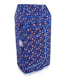 Luvely Folding Almirah Teddy And Love Print - Blue